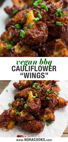 These meatless BBQ Cauliflower Wings are perfect for Game Day! These meatless BBQ Cauliflower Wings are perfect for Game Day! Vegan Foods, Vegan Recipes, Cooking Recipes, Vegetarian Recipes With Cauliflower, Vegan Califlower Recipes, Bbq Vegetarian, Meatless Recipes, Vegan Desserts, Beef Recipes