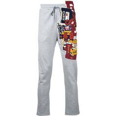 Doublet tracksuit trousers ($710) ❤ liked on Polyvore featuring men's fashion, men's clothing, men's pants, men's casual pants, grey, mens grey dress pants, mens cotton pants and mens gray pants