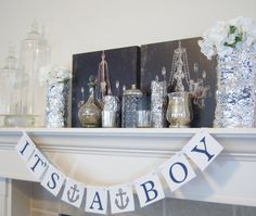 It's a Boy / Girl baby shower banner, nautical theme, baby shower, sign, baby shower decorations, nursery decoration, baby room , photo prop