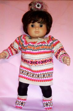 I OPENED MY ETSY STORE!!!  BITTY BABY GIRL 4 pc sweater dress 15 inch doll by TheDollyDama, $13.00