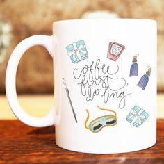 Coffee First Darling Breakfast at Tiffany's Audrey Hepburn Illustrated Ceramic…