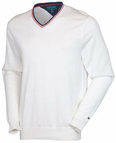 Tommy Hilfiger Men's Langdon Sweater, Ivory, X-Large by Tommy Hilfiger. $49.98. The Langdon 100% cotton sweater vest is the preppy with a twist look that Tommy Golf is famous for.  The Ivory White 14 gg knit is a classic look.