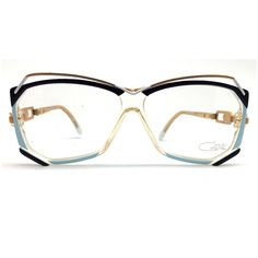 Cazal Vintage Blue Angular Glasses featuring polyvore, women's fashion, accessories, eyewear, eyeglasses, glasses, retro eyeglasses, blue eyeglasses, oversized glasses, blue glasses and vintage eyeglasses