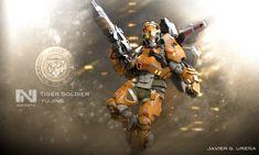 ArtStation - Tiger Soldier Color, Javier Ureña