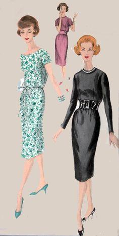 Vintage 50s Sewing pattern Vogue 9747 Elegant by sandritocat, $12.00