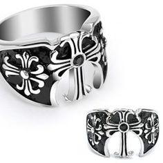Get Royal Get High Kingdom Ring Here #BuyBlueSteel #Ring #BlackStone #Cross #Men #Jewelry