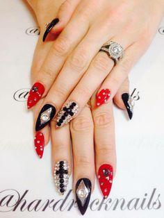 cross nails :)