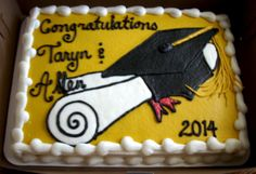 graduation sheet cake...buttercream icing