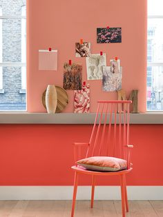 Dulux colour of the year 2015 Copper Blush looks great with a deeper coral - pick one for your walls and one for your shutters.