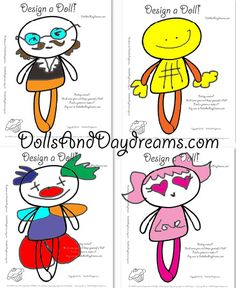 Feeling creative? Print out my Design a Doll Sheet ..... Grab some pens & design yourself a Doll don't forget...