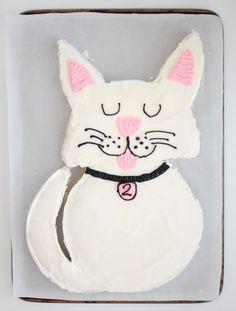 Kitty Cat Cake – Hottie Biscotti Birthday Cake For Cat, Birthday Cakes For Women, Birthday Ideas, Panda Birthday, Third Birthday, Violet Cakes, Cake Templates, Cat Party, Cute Cookies