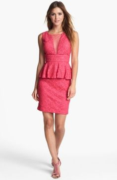 Adrianna Papell Lace Sheath Dress $118.0