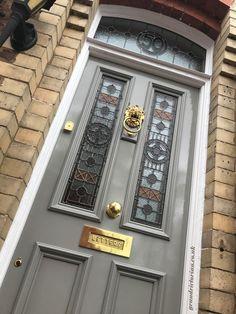 Victorian Front Doors - The Grand Victorian Door Company Front Door Porch, Wood Front Doors, House Front Door, Painted Front Doors, Glass Front Door, Porch Wall, Entry Doors, Craftsman Style Front Doors, Victorian Front Doors
