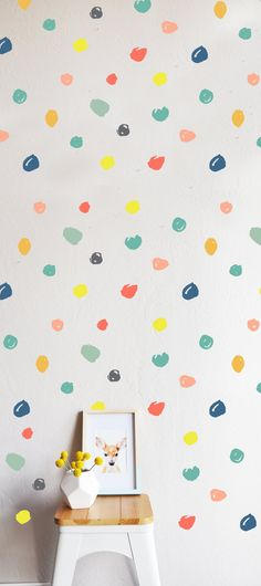 80 individual decals - 2 - 3.5 Dots  Fully removable and reusable wall decals that will brighten and add character to any room. **PLEASE NOTE THAT
