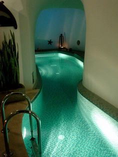 Indoor lazy river! Those who know me best know I dislike swimming pools and swimming period BUT how awesome would it be to come home after work and kick back by floating along your own private, indoor, warm water river!