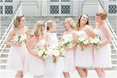 Pastel and pink. Light and flowy bridesmaid dresses!