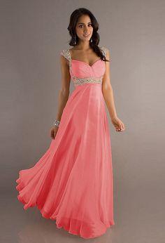 2015 Cheap Cap Sleeve Sweetheart Pink Peach Purple Blue Chiffon A Line Long Prom Dresses Party Dresses