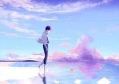 sea by lluluchwan on DeviantArt Aesthetic Art, Aesthetic Anime, Japon Illustration, Animation, Art Graphique, Anime Artwork, Boy Art, Anime Scenery, Anime Style