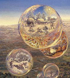 """Bubbles of All Seasons (zoom 2)"" par Josephine Wall"