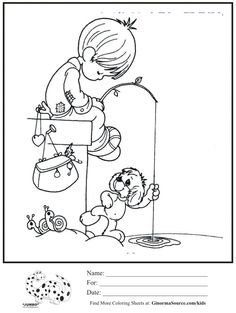 precious moments coloring pages Coloring Pages To Print, Coloring Book Pages, Printable Coloring Pages, Coloring Pages For Kids, Coloring Sheets, Kids Coloring, Drawing Lessons, Precious Moments Coloring Pages, Digi Stamps