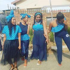 Shweshwe Dresses for African Girls - isishweshwe