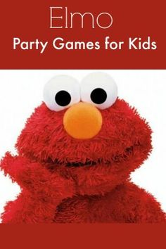 These Elmo party games for kids are perfect for toddlers and preschoolers! Easy to create with very few supplies. Inexpensive, fun party games.