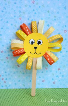 ribbon lion puppet craft cd animal craft for picturescrafts day care 5333