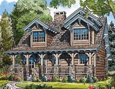 Looking for the best house plans? Check out the Mount Carmel plan from Southern Living. Best House Plans, House Floor Plans, Saint Lawrence River, Forest Cottage, Southern Living House Plans, Cottage Plan, Future House, Old Things, Houses Houses