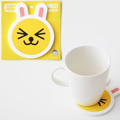 Kakao Friends Muzi Silicone Rubber Drink Mug Cup Coaster 1pcs Non Slip 4.7x4.7in #DaumKakaoFriends