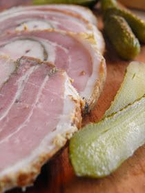 sio-smutki! Monika od kuchni: Rolada z boczku z ziołami Pork Recipes, Tuna, Fish, Meat, Roman, Inspiration, Kitchens, Home Canning