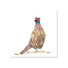 Pheasant greetings card by SimonAndrewDesigns on Etsy