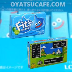 Love DragonQuest? Ever wondered what a Slime tastes like? We can reveal that Slimes are Lime flavored.  Grab a pack of Slime flavored Fit's gum at oyatsucafe.com