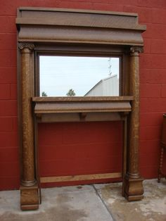 Re-use old fireplace mantle