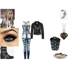 artemis nightshade sam sister from seattle. by artemis-nightshade on Polyvore featuring NLY Trend, Current/Elliott, Jeffrey Campbell, M. Cohen and Funk Plus