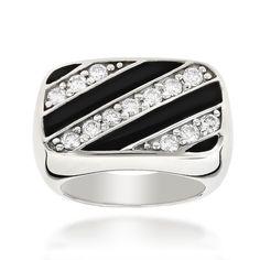 Luxurman 14k Gold Men's 4/5ct TDW White Diamond Ring (H-I, SI1-SI2) (14k White Gold Size 11.5)