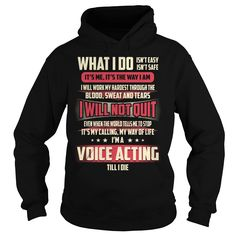 Voice Acting Job Title - What I do