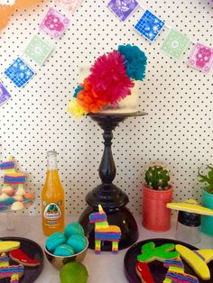 Mexican fiesta birthday party! See more party ideas at CatchMyParty.com!