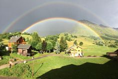A double rainbow shot I took yesterday in the French Alps. : pics