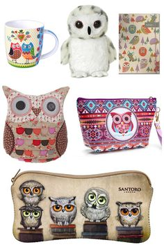 With Love for Books: Owl Mug, Plush, Notebook, Pillow and Pouches Givea...