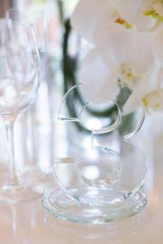 modern wedding reception table number; Sarah Kate Photography