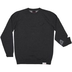 Diamond Emblem Patch Crewneck in Charcoal