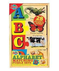 Take a look at this Alphabet Matching Puzzle Set by T.S. Shure on #zulily today!