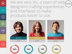 Collection Of Trendy Flat Portfolio Website Templates ( HTML5/CSS3)