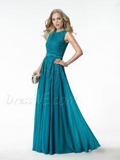 Elegant Concise Applique Zipper-Up A-Line Floor Length Prom Dress 10872276 - Evening Dresses 2014 - Dresswe.Com