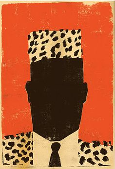 I love this pared down version of the cover art from Chinua Achebe's book A Man of the People.