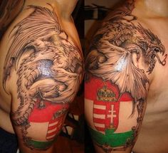 Hungarian crest Cool Tattoos, Tatoos, Awesome Tattoos, Hungarian Tattoo, Crest Tattoo, Arm Tats, Get A Tattoo, Coat Of Arms, Tattoos