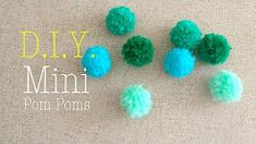 DYI || How to make Mini Yarn Pom Poms || Easiest Method - YouTube