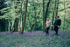 A beautiful Surrey engagement shoot amongst the bluebells in Reigate's Priory Park. Pre Wedding Shoot Ideas, Couple Shoot, Surrey, Engagement Shoots, Woodland, Photoshoot, Weddings, Park, Inspiration