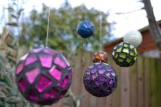 Mosaic Ornaments tutorial