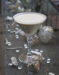 White Christmas cocktail.  This recipe (in variations) has been around for years.  I've been serving it on Christmas Day for over 35 years and it's always the #1 requested cocktail!  Holiday Yum!